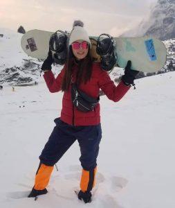 Shrinkhala Khatiwada Skiing in Kalinchowk | Ambassador Visit Nepal 2020