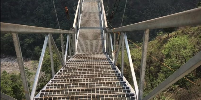 Bungee jumping in Kaligandaki river, world's second highest bungee jumping in Nepal